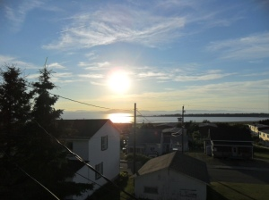 View from our hotel deck in Riviere Du Loup, QC.