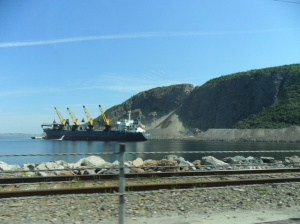 Crossing the Canso Causeway to Cape Breton Island, NS.