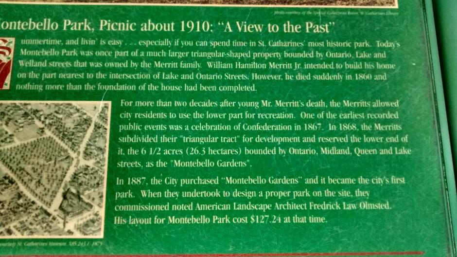 Montebello Park Placard 1